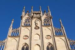 Исторический фасад в Мунстер, Германии стоковые изображения rf