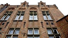 Исторический фасад в Brugge Бельгии Стоковые Фотографии RF