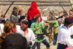 Исторический фестиваль в твердыне Sudak Стоковое Изображение RF