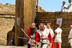 Исторический фестиваль в твердыне Sudak Стоковое Фото