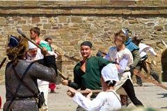 Исторический фестиваль в твердыне Sudak Стоковая Фотография