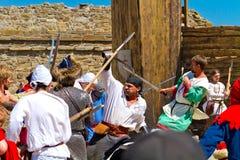 Исторический фестиваль в stromghold Sudak Стоковая Фотография