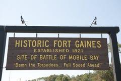 Исторический форт Gaines Алабама Стоковое фото RF