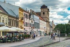 Исторический центр города в Kosice, Словакии Стоковые Изображения RF
