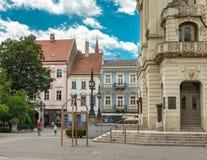 Исторический центр города в Kosice, Словакии Стоковое Фото
