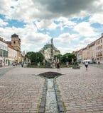 Исторический центр города в Kosice, Словакии Стоковая Фотография