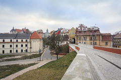 Исторический центр города Люблина, Польши Стоковые Фотографии RF