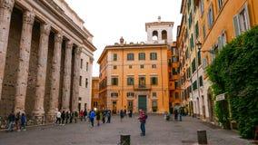 Исторический центр города Рима с пантеоном стоковое изображение