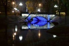 Мост над каналом стоковые изображения