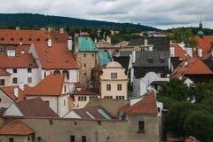 Исторический центр Cesky Krumlov в Богемии Стоковая Фотография