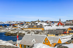 Исторический центр Nuuk стоковые фотографии rf