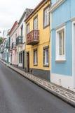 Исторический центр Ponta Delgada на острове Sao Мигеля в Азорских островах, Португалии Стоковые Фотографии RF