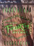 Исторический четвертый бульвар, Tuscon, Аризона стоковая фотография rf