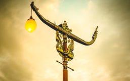 Исторический штендер искусства, столб северного Таиланда стоковое изображение rf