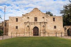 Исторический Alamo на сумерк Стоковое Изображение