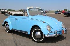 Исторический Cabriolet Volkswagen Beetle на дисплее на античной ассоциации автомобиля выставки автомобиля весны Бруклина ежегодно Стоковое Изображение RF