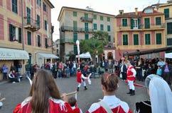 Исторический reenactment в ligure celle, Италии Стоковые Фотографии RF