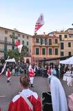 Исторический reenactment в ligure celle, Италии Стоковые Фото