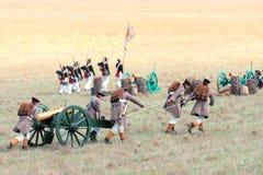 Исторический reenactment крымской войны Стоковые Изображения