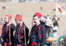 Исторический reenactment крымской войны Стоковое Изображение