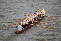 Исторический rowing - 100th гонка rowing Primatorky Стоковое Фото