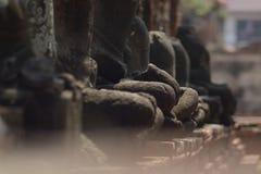 Исторический ` s Будды песчаника на Wat Phra Mahathat в Ayutthaya Стоковые Фотографии RF