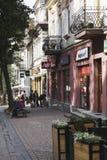 2 исторических здания вдоль улицы Krupowki Стоковое Фото