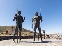 2 исторических родных короля Канарских островов как статуя Стоковая Фотография