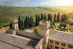 Историческое аббатство Passignano Стоковое Фото