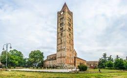 Историческое аббатство Pomposa и известного монастыря, Codigoro, эмилия-Романьи, Италии Стоковое фото RF