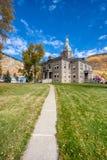 Историческое городское Silverton Колорадо во время сезона падения стоковые изображения
