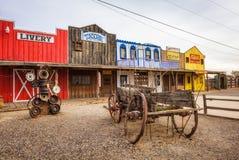 Историческое депо Seligman расположенное на трассу 66 Стоковая Фотография RF