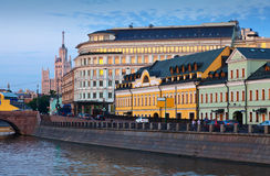 Историческое заречье Москва стоковое фото rf