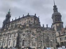 Историческое здание в Дрездене стоковое изображение