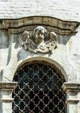 Историческое здание и оно элементы ` s, Zelenograd, Россия Религиозная архитектура России стоковые изображения