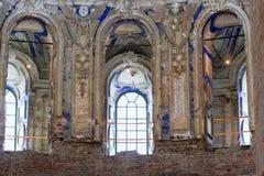 Историческое здание и оно элементы ` s, Zelenograd, Россия Религиозная архитектура России стоковые фото