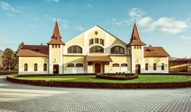 Историческое здание национальной фермы стержня, Topolcianky, старого фильтра Стоковое Изображение
