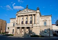 Историческое здание оперы положения в Прага Стоковая Фотография RF