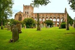 Историческое здание, аббатство Jedburgh Стоковая Фотография RF