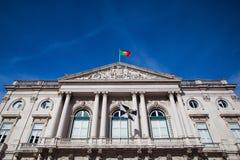 Историческое здание здание муниципалитета в Лиссабоне Стоковое фото RF