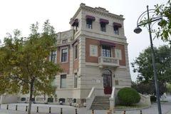 Историческое здание итальянской улицы стиля в Тяньцзине стоковое изображение rf