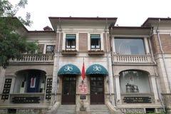 Историческое здание итальянской улицы стиля в Тяньцзине стоковые изображения