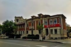 Историческое здание итальянской улицы стиля в Тяньцзине стоковое изображение