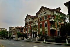 Историческое здание итальянской улицы стиля в Тяньцзине стоковые изображения rf