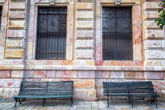 Историческое здание и стенды Стоковые Фото