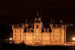 Школа Джордж Heriot в Эдинбурге на ноче стоковая фотография rf