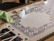 Историческое искусство шить, вышивка Стоковое Фото
