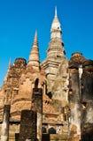 Историческое место в периоде Sukhothai, Таиланд. (Вертикальное изображение) Стоковые Изображения RF