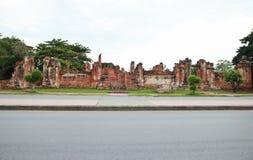 Историческое место на Ayutthaya стоковые фотографии rf