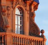 историческое окно захода солнца Стоковое фото RF